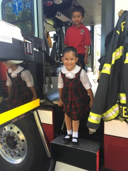 Preschool learns about Fire Safety